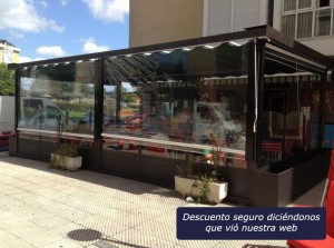 Cerramiento terraza cafetería